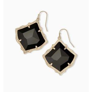 Kendra Scott Kirsten Gold Earrings in Black